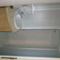 Campsite France Brittany, camping du gouffre - Salle de bain du Mobile Home 3 chambres Flores